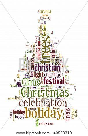 Word Cloud of Christmas Tree