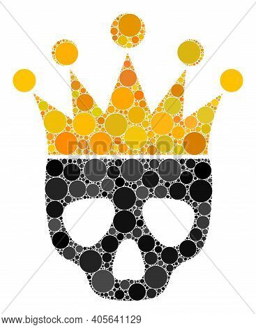Dead King Vector Composition Of Dots In Different Sizes And Color Tints. Circle Dots Are Grouped Int