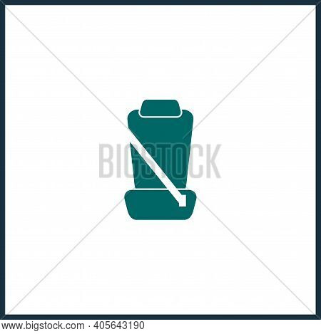 Car Seat With Seat Belts Simple Icon. Car Seat Vector Icon