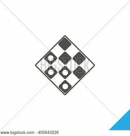 Checkers Simple Icon. Checkers Vector Isolated Icon