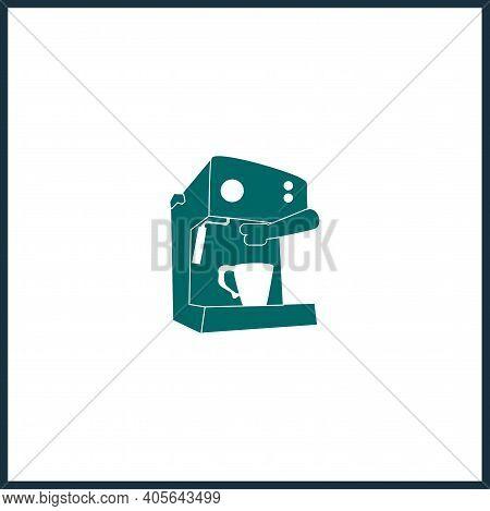 Coffee Maker Machine Simple Icon. Coffee Maker Vector Icon