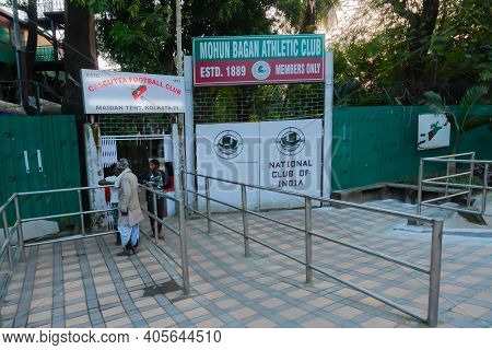 Kolkata, West Bengal, India - 12th January 2020 : The Gate Of Mohun Bagan Athlectic Club, Now Called