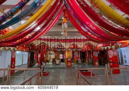 Jaisalmer, Rajasthan, India - 15th October 2019 : Tanot Mata Mandir At India Pakistan Border In Thar