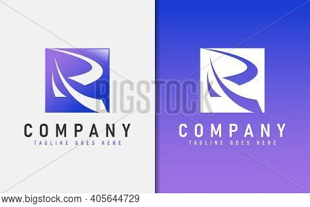 Abstract Initial Letter R With Modern Sharp Shape Logo Design. Usable For Business, Community, Found