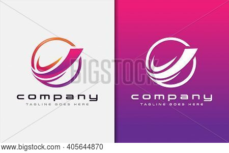 Abstract Colorful Circle Logo With Sharp Lines Combination. Usable For Business, Community, Foundati