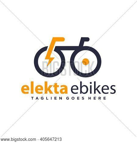 Modern Logo Design Outline Electric Bike Or Your Brand