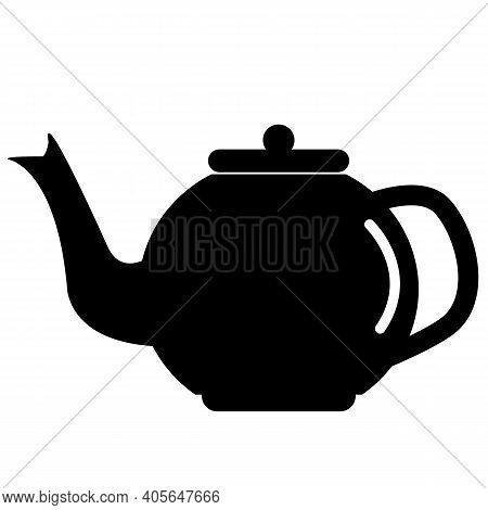 The Teapot Icon On White Background. Flat Style. Tea Symbol. Kettle Sign. Ceramic Teapot Icon.
