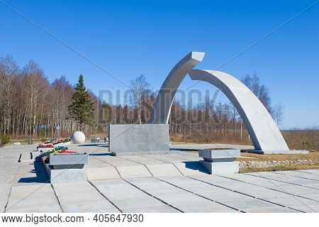 Kokkorevo, Russia - April 14, 2019: Monument