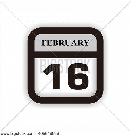 Calendar Icon 16 Isolated On White Background, Calendar Icon Vector Flat Modern, Calendar Icon, Cale