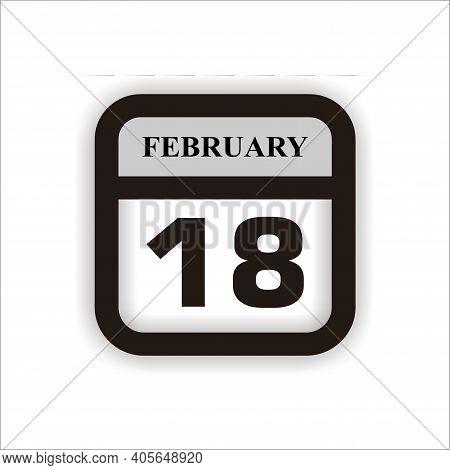 Calendar Icon 18 Isolated On White Background, Calendar Icon Vector Flat Modern, Calendar Icon, Cale