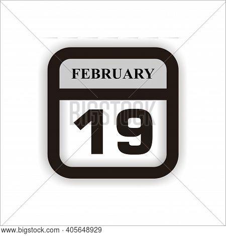 Calendar Icon 19 Isolated On White Background, Calendar Icon Vector Flat Modern, Calendar Icon, Cale