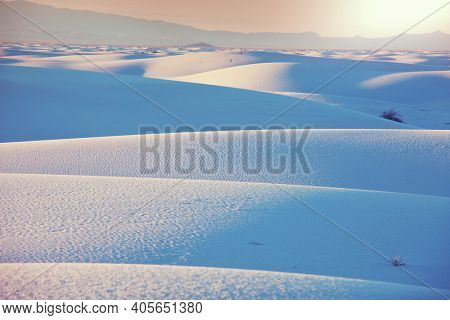 White Sands Dunes  in New Mexico, USA