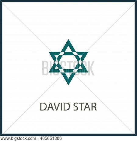 David Star Vector Icon, David Star Simple Isolated Icon