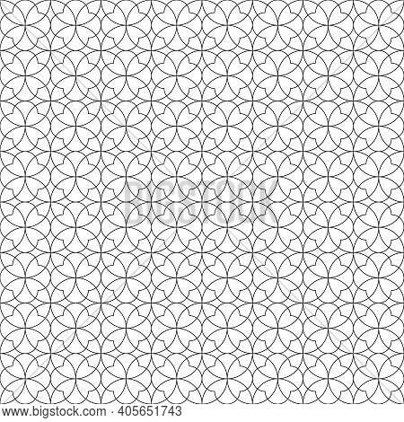 Seamless Geometric Pattern .black Color Fine Lines