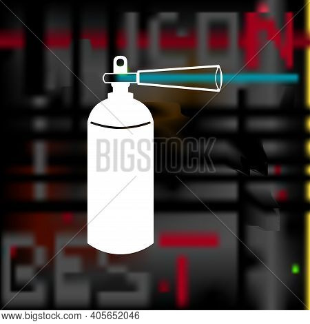 Fire Extinguisher Vector Icon, Fire Extinguisher Simple Isolated Icon