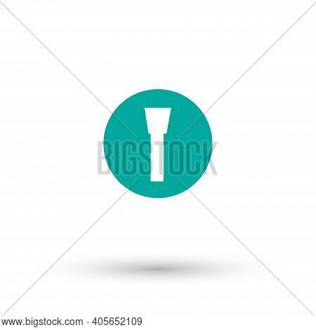 Flashlight Vector Icon, Flashlight Simple Isolated Icon