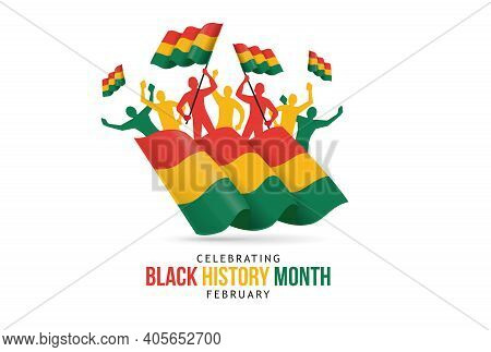Black History Month Celebrate Vector Illustration History Month