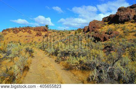 Road To The Red Rocks - A High Desert Scene At Jasper Rocks - Crooked River National Grassland - Nea