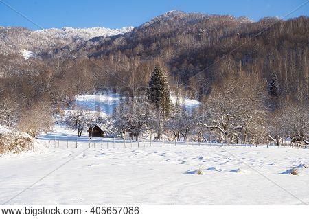 Winter Landscape At Poiana Marului In Caras Severin