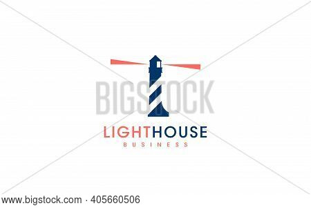 Creative Logo Design Lighthouse Combine Of Letter L And Lighthouse