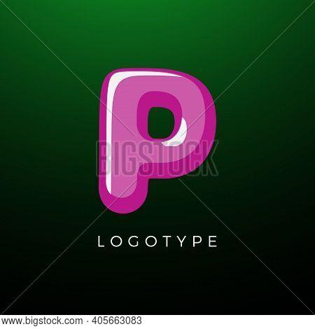 3d Playful Letter P, Kids And Joy Style Symbol For School, Preschool, Comic Book, Kids Zone Decorati