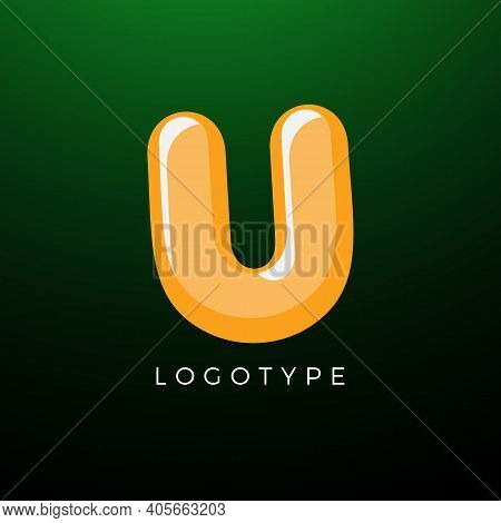 3d Playful Letter U, Kids And Joy Style Symbol For School, Preschool, Comic Book, Kids Zone Decorati