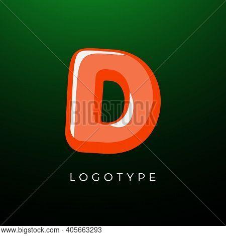 3d Playful Letter D, Kids And Joy Style Symbol For School, Preschool, Comic Book, Kids Zone Decorati