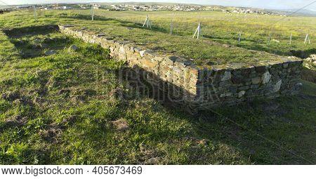 Porta Praetoria At Caceres El Viejo Roman Camp, Extremadura, Spain