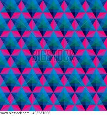 Triangular Geometric Seamless Pattern Or Background Vector Illustration