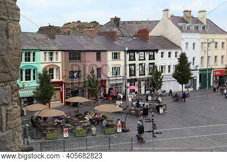 Caernarfon, Great Britain - September 14, 2014: This Is A View Of The Castle Square From The Castle