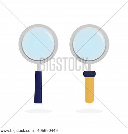 Modern Line Icon With Loupe On White Background For Site Design. Flat Style Art Loupe For Site Desig