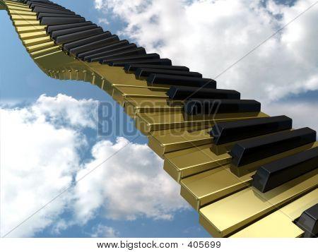 Golden Wavy Keyboard