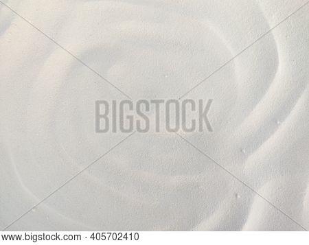 Flour Texture. A Spilled Flour Isolated. Rice Flour