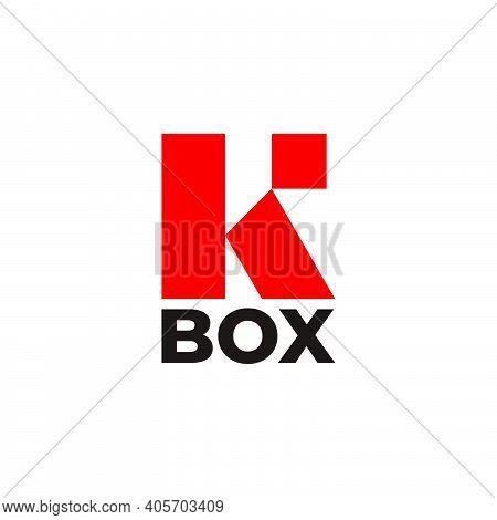 Vector Of Letter R Square Box Simple Flat Geometric Logo