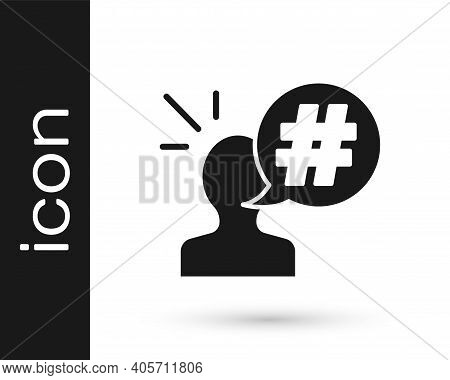 Black Protest Icon Isolated On White Background. Meeting, Protester, Picket, Speech, Banner, Protest