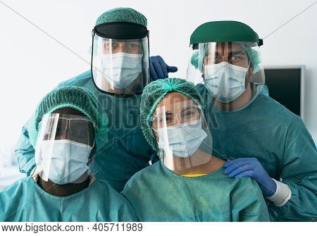 Doctors Wearing Personal Protective Equipment Fighting Against Corona Virus Outbreak - Health Care A