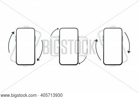 Rotate Smartphone Isolated Icon. Device Rotation Symbol. Turn Your Device.