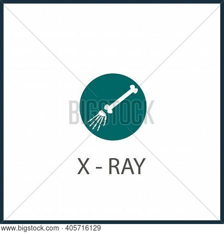 Hand X-ray Vector Icon, X-ray Simple Isolated Icon