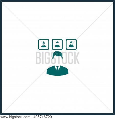 Hr Department Vector Icon, Hr Simple Isolated Icon