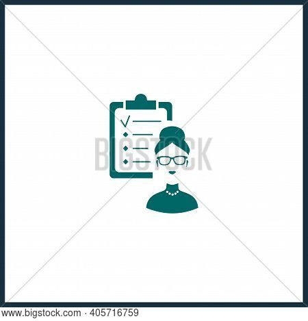 Hr Planning Vector Icon, Hr Simple Isolated Icon