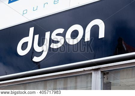 Brno, Czech Republic - September 17, 2019: The Logo Of Dyson Company Which Sells Vacuum Cleaner And