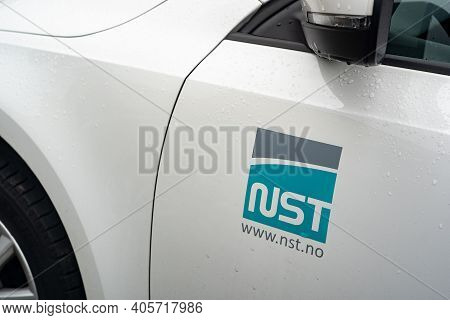 Ostrava, Czech Republic - October 5, 2019: The Logo Of Nst Nippon Steel Welding And Engineering (nsw