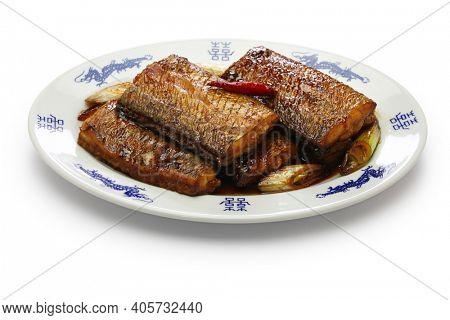 braised hairtail fish, chinese cuisine