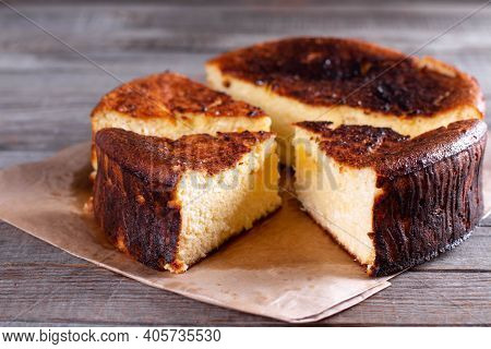 Basque Burnt Cheesecake Is The Alter Ego To The Classic New York-style Cheesecake With A Press-in Co