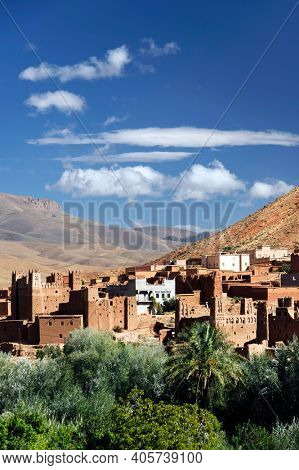 Village in the Atlas mountains, Morocco, Africa