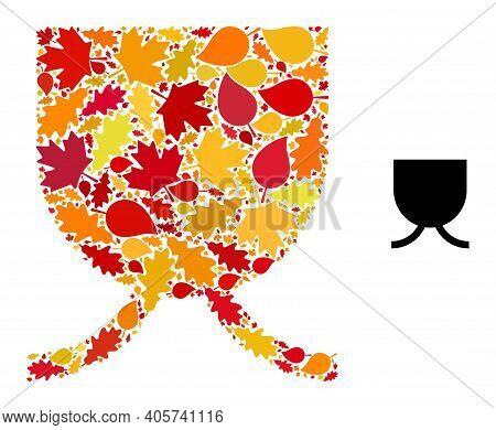 Full Mug Mosaic Icon Designed For Fall Season. Vector Full Mug Mosaic Is Designed From Random Autumn