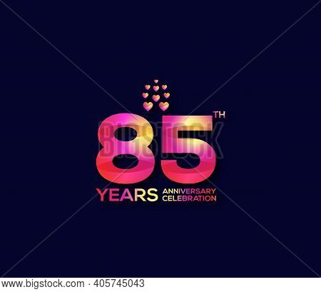 85 Year Anniversary Celebration Day Modern Background Concept