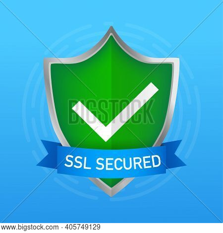 Ssl Secure On White Background. Protection Icon Vector. Information Icon Vector. Data Protection.