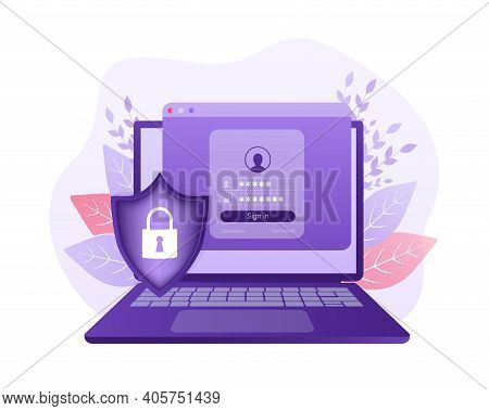 Network Security Antivirus Vpn Privacy. User Icon Vector. Data Protection. Data Secure. Icon For Con