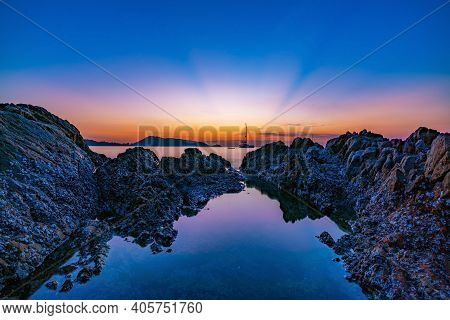 Beautiful Sunrise Or Sunset Seascape Scenery Over Andaman Sea In Phuket Thailand Epic Dawn Sea Lands